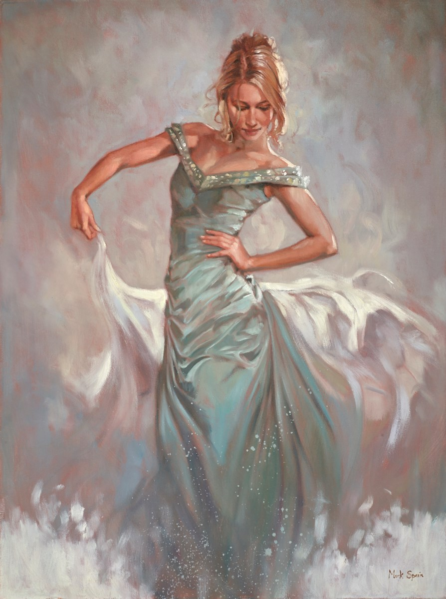 Blue Dress and Shawl by mark spain -  sized 24x32 inches. Available from Whitewall Galleries